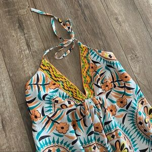 Pia Pauro Printed Maxi Dress in organic pumpkin
